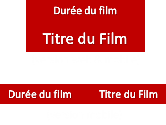Programmation vignette film